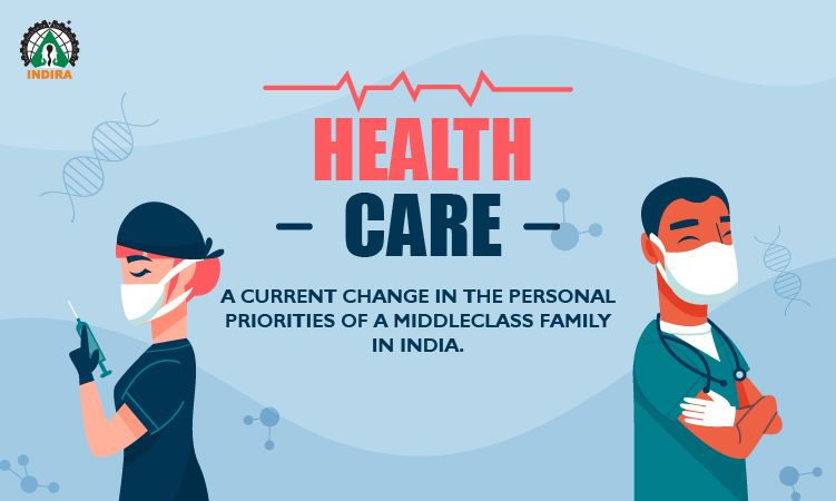 Healthcare: A current change in the personal priorities of a middleclass family in India.